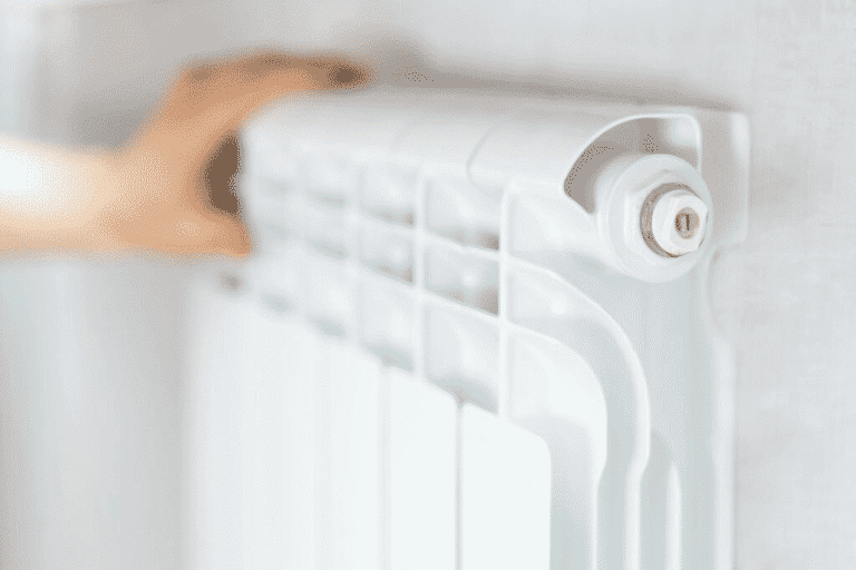 White Radiator Mounted on the wall